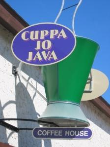 Cuppa Jo Java Sign