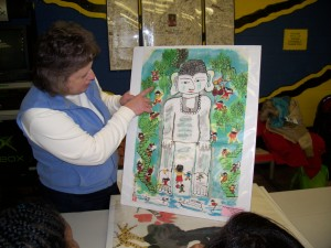 Denise Reaume, 4-H Program Instructor shares Chinese artwork