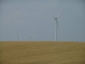 Wind energy farm turbines