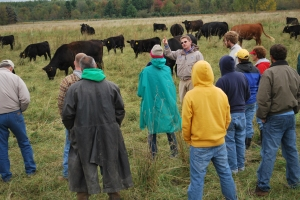 Jason Rowntree, MSU animal scientist, talks about research on pasture management.