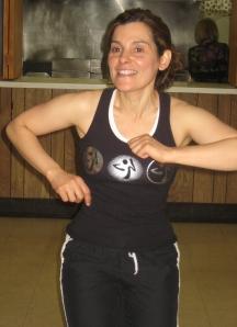 Celina Wille demonstrates dance moves.