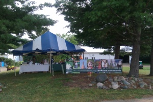 MSU Extension Bookstore tent