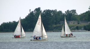 Participants in the Life of Lake Superior Youth Program receive sailing instructions in Munising Bay.
