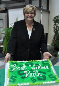 Dr. Ruth Hohl Borger was honored Nov. 16, 2011, at a reception in the MSU Agriculture Hall Atrium on her last day as director of Agriculture and Natural Resources Communications