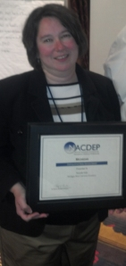 Michelle Walk, MSU Extension educator, receives NACDEP State Distinguished Extension Community Development Service Award