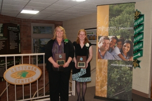 Karen Fifield and Michelle Neff receive MAE4-HYS Distinguished Service Awards