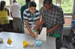 Attendees of 4-H Discovery Camp took part in a Bio Blast experiment on June 24, 2013, at Michigan State University's Shaw Hall in East Lansing, Mich.
