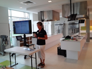 MSU Extension educator Jeannie Nichols presents a ServSafe class at the Grand Rapids Downtown Market Aug. 14, 2013.