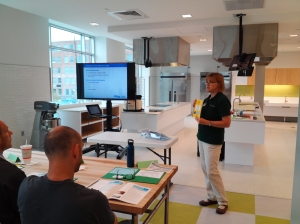 MSU Extension educator Rita Klavinski presents a ServSafe class at the Grand Rapids Downtown Market Aug. 14, 2013.