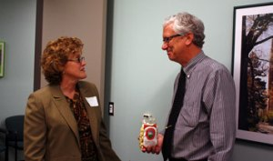 Betty Blase, MSU Extension District 7 Coordinator, and Jim Talen, Kent County Commissioner.