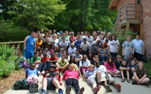 Staff, volunteers, mentors and mentees at the 7th Annual 4-H Mentoring Weekend