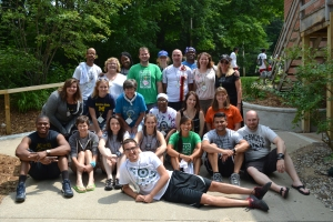 Staff and volunteers pose for a photo at the 7th Annual 4-H Mentoring Weekend