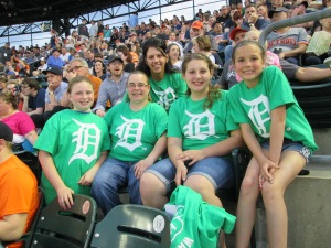 4-H'ers at the Detroit Tigers Game