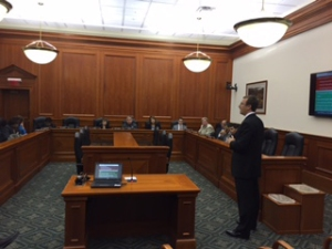 MSU Extension educator Andy Northrop presented before the Michigan House of Representatives Tourism and Outdoor Recreation Committee.